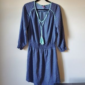 Vince Camuto Downtown Oasis blue dress size 6